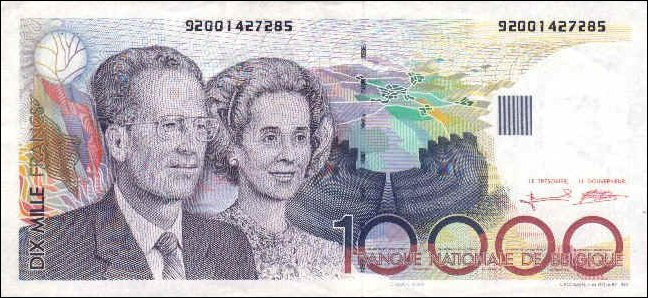 Belgium 1992.  Front side portraying King Baudouin I and Queen Fabiola. Pick #146.